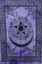 Moon and Star Mandala Tapestry Wall Hanging Throw Cotton Twin Bedspread Bohemian
