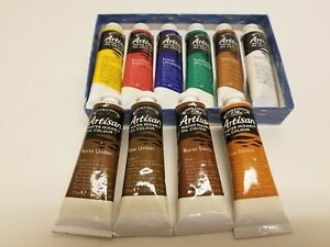 10  Windsor & Newton Artisan Water Mixable Oil Colour Paint 1.25 Oz Size Tubes