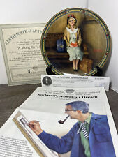 Bradford Exchange A Young Girl'S Dream byNorman Rockwell 1985.Collector Plate.