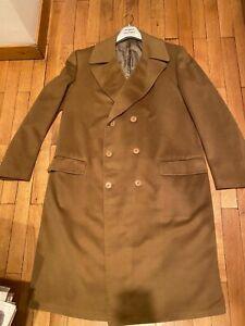 Occasione: Pregiatissimo Cappotto In Cachemire Di Sartoria Colore Beige