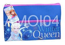 Frozen Girls Large Double Neoprene School Pencil Case Winter Queen New
