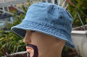 New Quality Denim Bucket Fedora Brim Bonnie Outdoor Crushable Hat Summer Sun Cap