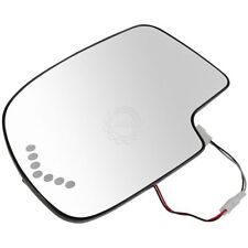 Heated Mirror Glass Turn Signal w/o Auto Dimming LH LF for Chevy GMC Cadillac