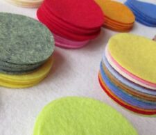 "6 Wool Felt 4"" Circle Die Cuts - UPICK Colors - Penny rug - Bow Making"