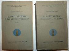 Fortunato: Mezzogiorno e Stato italiano 2 voll. 1926 Vallecchi Studi Meridionali