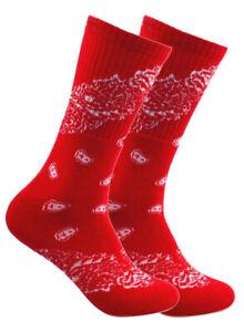 Paisley Bandanna Athletic Sports Cushioned Unisex everyday Cushion Crew Socks