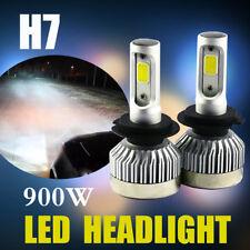 Pair H7 Car LED Headlight Bulbs 900W 135000LM Cree COB Chips kit 6500K White