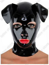 343 Latex Rubber Gummi Dog Puppy Mask Hood customized catsuit fashion 0.4mm cool