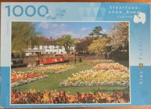 Vintage King Stratford Upon Avon Jigsaw puzzle Canal Boats Flowers River 1000 pi