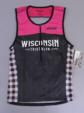 Zoot Women's Farm League Wisconsin Performance Triathlon Tank AB3 Pink Large