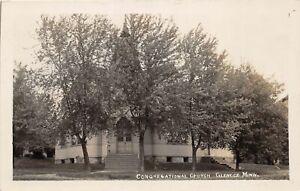 H70/ Glencoe Minnesota RPPC Postcard c1910 Congregational Church  92