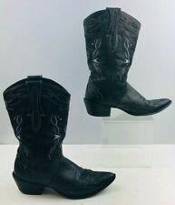 Ladies Durango Black Leather Western Boots Size: 7.5M