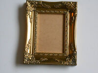 """GOLD ORNATE PICTURE/PHOTO FRAME 7""""x5"""" WITH GLASS/BACK"""
