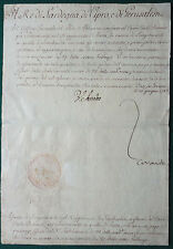Victor Amadeus III of Savoy King of Sardinia Signed Military Document 1786