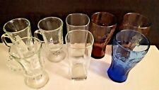 8 ASSORTED GLASSES, 3 CLEAR COFFEE MUGS 3 COCA COLA GLASSES 2 REGULAR GLASSES XY