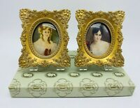 Vintage Cameo Creations Ornate Dome Frames Set Victorian Woman Bust Portrait Box