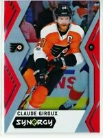 2017-18 UPPER DECK SYNERGY CLAUDE GIROUX RED #11 FLYERS  PD