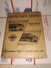 1929-1952 Chevrolet Master Parts and Accessories Catalog Book Auto Truck Bowtie