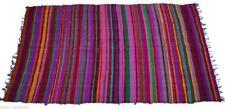 3'x5' Feet Indian Cotton Multi Patchwork Chindi Rug Dari Throw Vintage Wooven