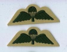 2 Para Wings GREEN on MAIZE- LIGHT INFANTRY. Ideal Re-enactments.