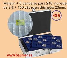MALETIN Aluminio con 6 Bandejas para 240 Mo/2 €ur..+100 Cáps.  BLACK FRIDAY