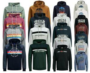 New Mens Sweatshirt Hoodie Jack Jones Logo Print Long Sleeve Jumper Pullover Top