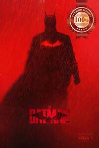 THE BATMAN 2022 RED DC ORIGINAL OFFICIAL CINEMA MOVIE FILM PRINT PREMIUM POSTER