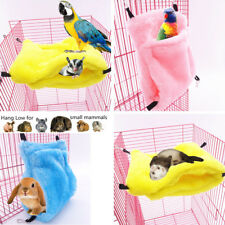 Rat Hamster Parrot Ferret Pet Double-deck Hammock Hanging Bed Cage Toy Nest