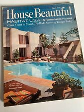 House Beautiful April, 1967 Mid Century Modern Houses
