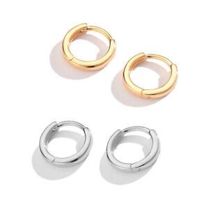 Fashion Pierce Huggie Earring Little Hoop Thin Pin Easy To Wear Fashion Jewelry