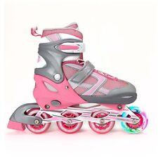 Xino Sports Adjustable Inline Skates for Girls - Illuminating Front Wheels