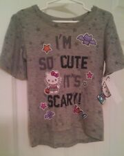 Hello Kitty Girls Halloween T-Shirt I'M SO CUTE IT'S SCARY! Size 4t NWT gray