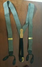 MARTIN DINGMAN Suspenders Braces Black Ivory Zig Zag Reptile