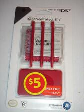 Clean & Protect Kit for Nintendo DSi Official Authentic PowerA Red NEW