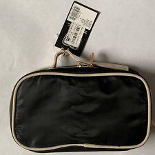 sonia kashuk black train case travel makeup organizer double zipper bag nwt