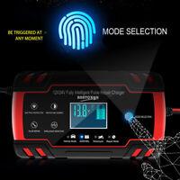 Cargador Batería Inteligente Lead-acid 12/24V Para Coche Auto Furgoneta Moto ES