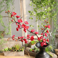 Artificial Silk Fake Flowers Plum Blossom Floral Wedding Bouquet Party Decor HOT