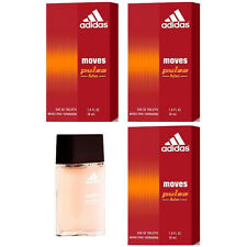 Lot of 3 Adidas Moves Pulse Him for Men 1.0 oz 30 ml EDT Spray Perfume cologne