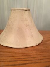 Vintage Bell Shaped Fabric Lamp Shade, Lined,6in*16in*10in. Cream Color