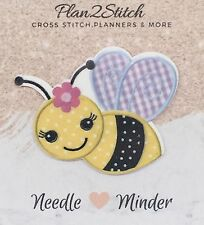 Bumble Bee Needle Minder For Cross Stitch/ Embroidery