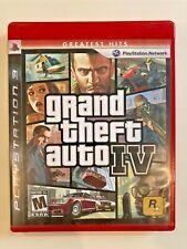 Grand Theft Auto Iv Sony PlayStation 3 Ps3 Gta 4 w/ Map