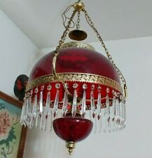 """Exquisite Hand Made Vintage Blood Red Electric Chandelier Large 14"""" Base"""