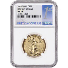 2016 American Gold Eagle (1/2 oz) $25 - NGC MS70 - First Day of Issue 1st Label