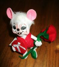 "6""  2014 VALENTINE Boy Mouse #100814 Candy Heart Box w/ RED ROSE $25 NEW w Tag"