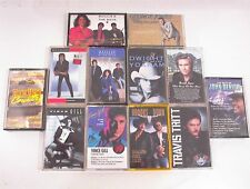 LOT OF 12 ASSORTED CASSETTE TAPES COUNTRY GILL JONES STUART TRITT YOAKAM BROOKS