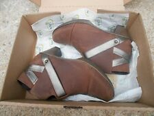 Naot Modern Women Boots Ankle  Brown Leather  Wedge Size 6M  BNWOB R.V $215.00