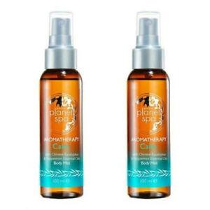 2 x Avon Planet Spa Aromatherapy Calm Chinese Body Mist Eucalyptus & Mint 100ml