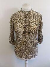Zara Leopard Print Chiffon Blouse Size XL Box4650 A