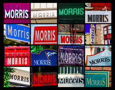 MORRIS Name Poster featuring photos of actual signs