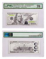2017 $100 Franklin Currency Strike 5 g Silver Proof PMG Gem Unc 70 SKU47862